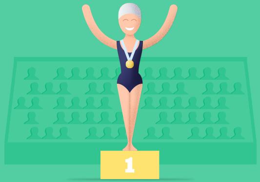 Mardžori Geštring najmlađi osvajač olimpijske zlatne medalje, ilustracija