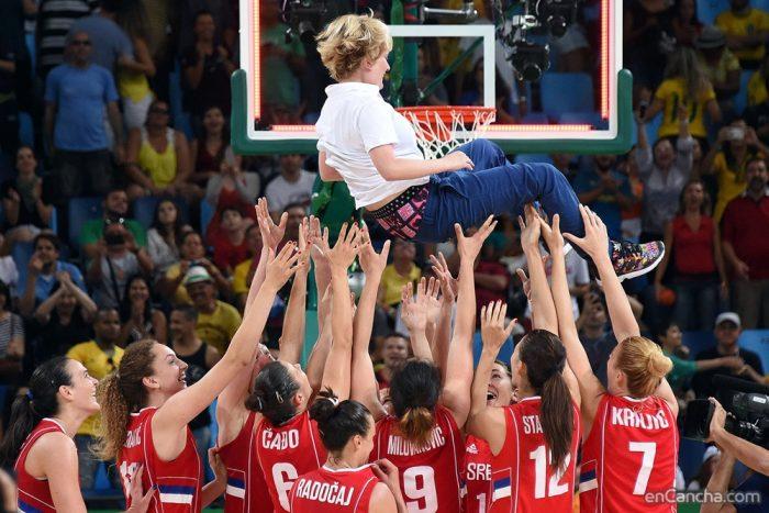Košarkašice Srbije proslavljaju bronzu, Rio 2016