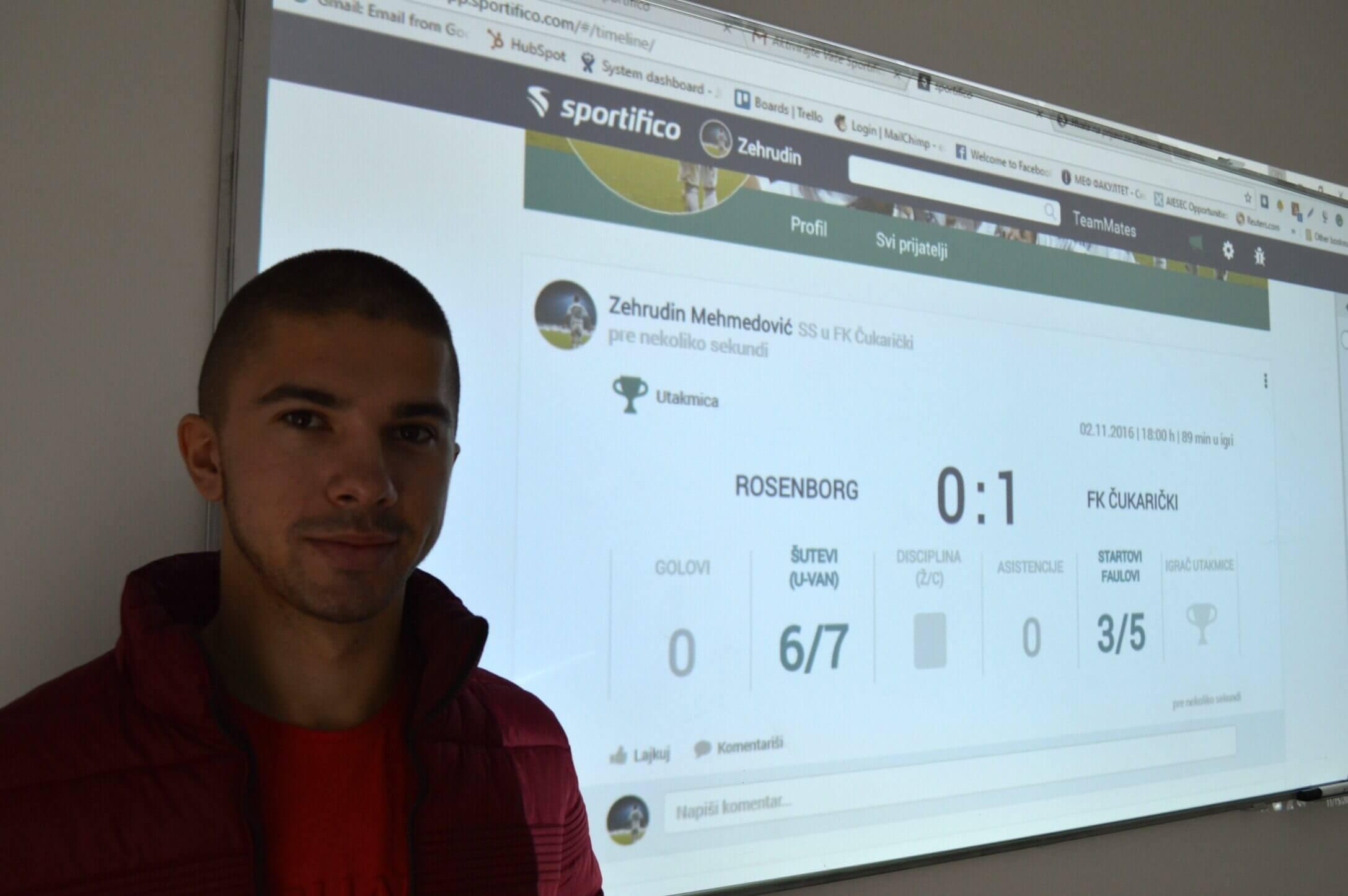 Zehrudin Mehmedović status sa utakmice Sportifico